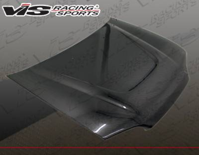 Civic 2Dr - Hoods - VIS Racing - Honda Civic 2DR & Hatchback VIS Racing JS Carbon Fiber Hood - 92HDCVC2DJS-010C
