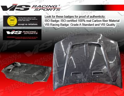 Civic 2Dr - Hoods - VIS Racing - Honda Civic 2DR VIS Racing Monster-2 Black Carbon Fiber Hood - 92HDCVC2DMON2-010C