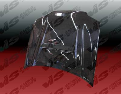 Civic 2Dr - Hoods - VIS Racing - Honda Civic 2DR VIS Racing N-1 Black Carbon Fiber Hood - 92HDCVC2DN1-010C