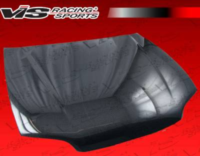 Civic 2Dr - Hoods - VIS Racing - Honda Civic 2DR VIS Racing OEM Black Carbon Fiber Hood - 92HDCVC2DOE-010C