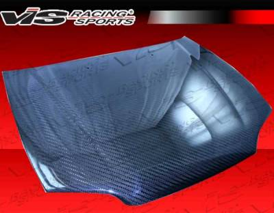 Civic HB - Hoods - VIS Racing - Honda Civic 2DR & Hatchback VIS Racing OEM Style Carbon Fiber Hood with Fuzion V1 Pattern - 92HDCVC2DOE-010V1C