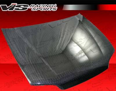 Civic HB - Hoods - VIS Racing - Honda Civic 2DR & Hatchback VIS Racing OEM Style Carbon Fiber Hood with Fuzion V2 Pattern - 92HDCVC2DOE-010V2C
