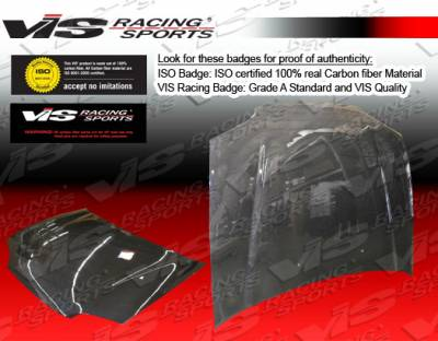 Civic 4Dr - Hoods - VIS Racing - Honda Civic 4DR VIS Racing OEM Black Carbon Fiber Hood - 92HDCVC4DOE-010C
