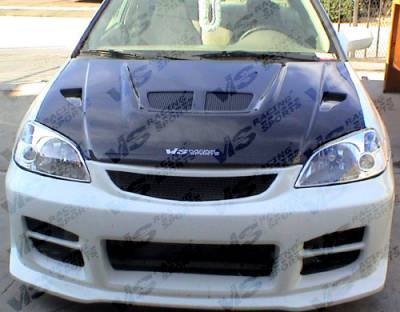 Prelude - Hoods - VIS Racing - Honda Prelude VIS Racing EVO Black Carbon Fiber Hood - 92HDPRE2DEV-010C