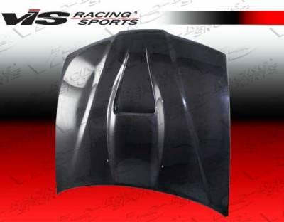 Prelude - Hoods - VIS Racing - Honda Prelude VIS Racing G Force Black Carbon Fiber Hood - 92HDPRE2DGF-010C
