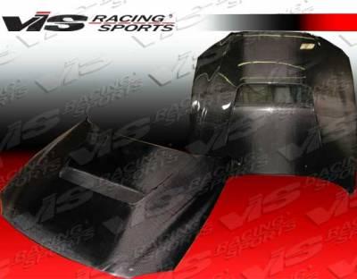 SC - Hoods - VIS Racing - Lexus SC VIS Racing V Line Black Carbon Fiber Hood - 92LXSC32DVL-010C