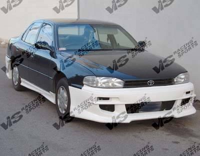 Camry - Hoods - VIS Racing - Toyota Camry VIS Racing OEM Black Carbon Fiber Hood - 92TYCAM4DOE-010C