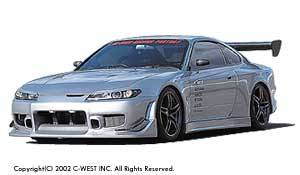 Silvia - Side Skirts - C-West - Side Skirt Gt-Type