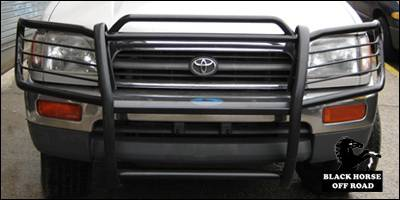 Grilles - Grille Guard - Black Horse - Toyota 4Runner Black Horse Push Bar Guard