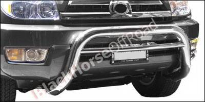 Grilles - Grille Guard - Black Horse - Toyota 4Runner Black Horse Bull Bar Guard