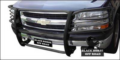 Grilles - Grille Guard - Black Horse - Chevrolet Avalanche Black Horse Modular Push Bar Guard