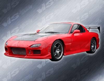 RX7 - Hoods - VIS Racing - Mazda RX-7 VIS Racing OEM Black Carbon Fiber Hood - 93MZRX72DOE-010C