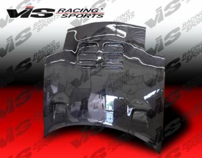 RX7 - Hoods - VIS Racing - Mazda RX-7 VIS Racing Techno R Black Carbon Fiber Hood - 93MZRX72DTNR-010C