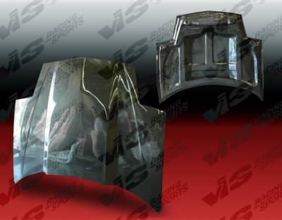 Firebird - Hoods - VIS Racing - Pontiac Firebird VIS Racing Cowl Induction Black Carbon Fiber Hood - 93PTFIR2DCI-010C