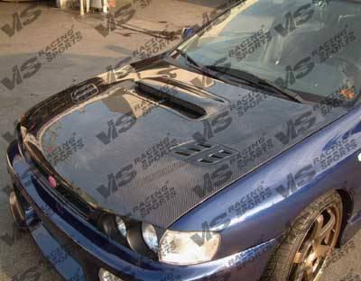 Impreza - Hoods - VIS Racing. - Subaru Impreza VIS Racing OEM Black Carbon Fiber Hood with Scoop - 93SBIMP4DOE-010C