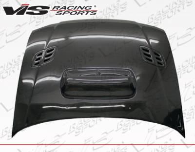 Impreza - Hoods - VIS Racing - Subaru Impreza VIS Racing STI Carbon Fiber Hood with Scoop - 93SBIMP4DSTI-010C