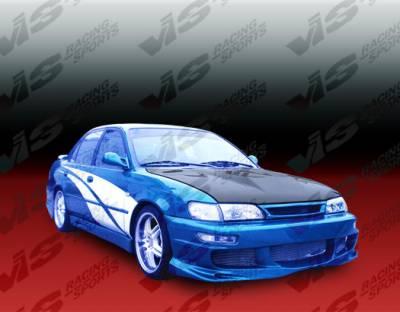 Corolla - Hoods - VIS Racing - Toyota Corolla VIS Racing Invader Black Carbon Fiber Hood - 93TYCOR4DVS-010C