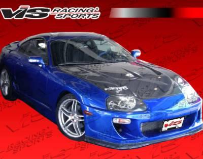 Supra - Hoods - VIS Racing - Toyota Supra VIS Racing Drift-2 Black Carbon Fiber Hood - 93TYSUP2DDFT2-010C