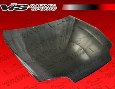 Supra - Hoods - VIS Racing - Toyota Supra VIS Racing OEM Black Carbon Fiber Hood - 93TYSUP2DOE-010C