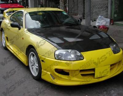 Supra - Hoods - VIS Racing - Toyota Supra VIS Racing Techno R Black Carbon Fiber Hood - 93TYSUP2DTNR-010C