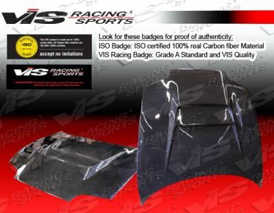 Supra - Hoods - VIS Racing - Toyota Supra VIS Racing V Line Black Carbon Fiber Hood - 93TYSUP2DVL-010C