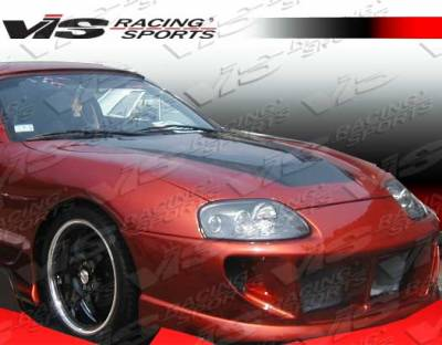 Supra - Hoods - VIS Racing - Toyota Supra VIS Racing Invader Black Carbon Fiber Hood - 93TYSUP2DVS-010C