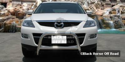 Grilles - Grille Guard - Black Horse - Mazda CX-7 Black Horse Bull Bar Guard