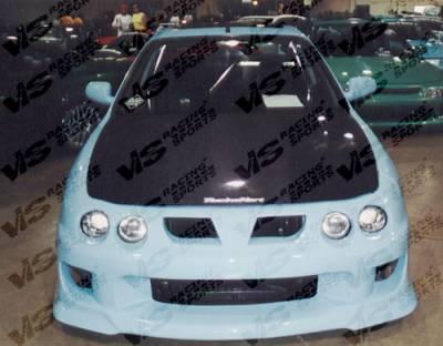 Integra 2Dr - Hoods - VIS Racing - Acura Integra VIS Racing OEM Black Carbon Fiber Hood - 94ACINT2DOE-010C