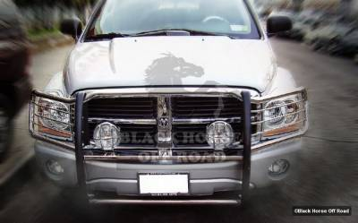 Grilles - Grille Guard - Black Horse - Dodge Durango Black Horse Modular Push Bar Guard