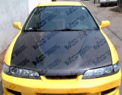 Integra 2Dr - Hoods - VIS Racing - Acura Integra VIS Racing Invader Black Carbon Fiber Hood - 94ACITR2DVS-010C