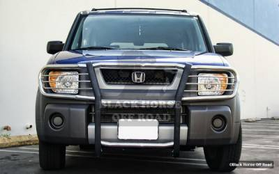 Grilles - Grille Guard - Black Horse - Honda Element Black Horse Modular Push Bar Guard