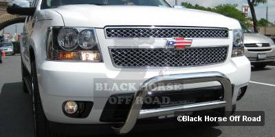 Grilles - Grille Guard - Black Horse - Cadillac Escalade Black Horse Bull Bar Guard