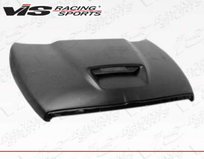 Ram - Hoods - VIS Racing - Dodge Ram VIS Racing SRT Style Fiberglass Hood - 94DGRAM2DSRT-010