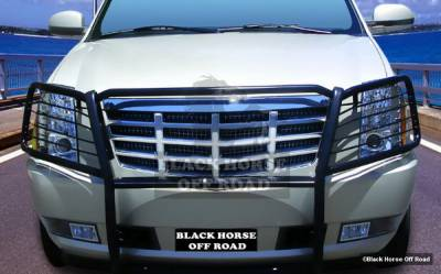 Grilles - Grille Guard - Black Horse - Cadillac Escalade Black Horse Push Bar Guard