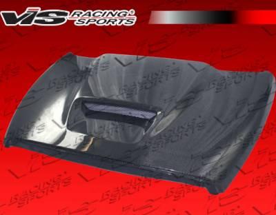 Ram - Hoods - VIS Racing - Dodge Ram VIS Racing SRT Black Carbon Fiber Hood - 94DGRAM2DSRT-010C