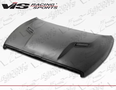 Ram - Hoods - VIS Racing - Dodge Ram VIS Racing SRT 2 Style Fiberglass Hood - 94DGRAM2DSRT2-010