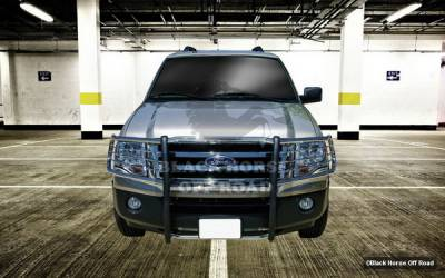 Grilles - Grille Guard - Black Horse - Ford Expedition Black Horse Push Bar Guard