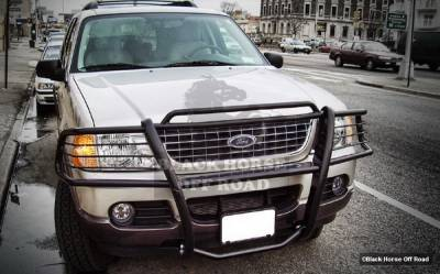 Grilles - Grille Guard - Black Horse - Ford Explorer Black Horse Push Bar Guard