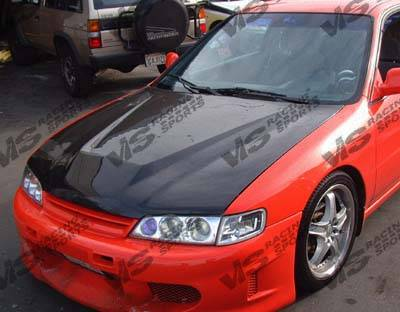 Accord 2Dr - Hoods - VIS Racing - Honda Accord VIS Racing Invader Black Carbon Fiber Hood - 94HDACC2DVS-010C
