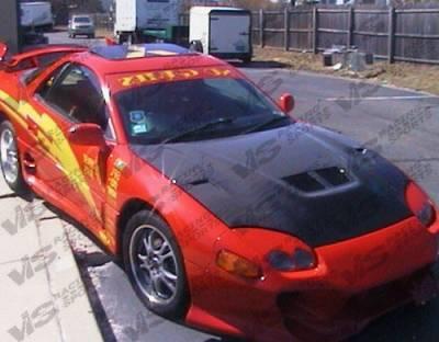 3000GT - Hoods - VIS Racing - Mitsubishi 3000GT VIS Racing EVO II Black Carbon Fiber Hood - 94MT3K2DEV2-010C