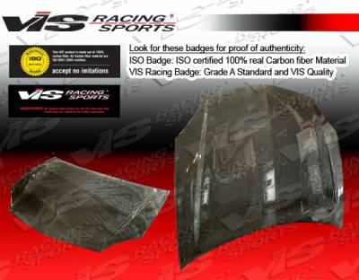 Sebring 2Dr - Hoods - VIS Racing - Chrysler Sebring 2DR VIS Racing OEM Black Carbon Fiber Hood - 95CYSEB2DOE-010C