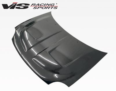 Neon 2Dr - Hoods - VIS Racing - Dodge Neon VIS Racing Xtreme GT Black Carbon Fiber Hood - 95DGNEO2DGT-010C