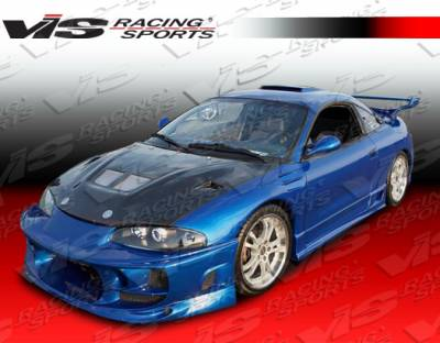 Eclipse - Hoods - VIS Racing - Mitsubishi Eclipse VIS Racing EVO Black Carbon Fiber Hood - 95MTECL2DEV-010C