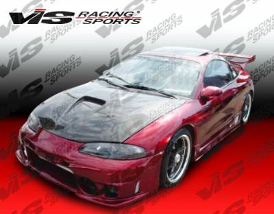 Eclipse - Hoods - VIS Racing - Mitsubishi Eclipse VIS Racing G Force Black Carbon Fiber Hood - 95MTECL2DGF-010C