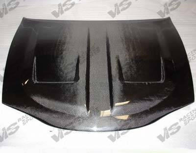 Eclipse - Hoods - VIS Racing - Mitsubishi Eclipse VIS Racing Xtreme GT Black Carbon Fiber Hood - 95MTECL2DGT-010C