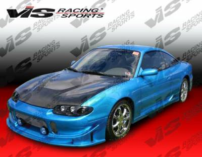 Eclipse - Hoods - VIS Racing - Mitsubishi Eclipse VIS Racing Invader Black Carbon Fiber Hood - 95MTECL2DVS-010C