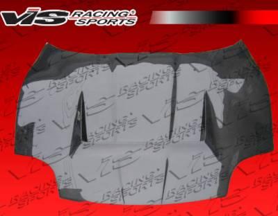 FTO - Hoods - VIS Racing - Mitsubishi FTO VIS Racing Invader Black Carbon Fiber Hood - 95MTFTO2DVS-010C