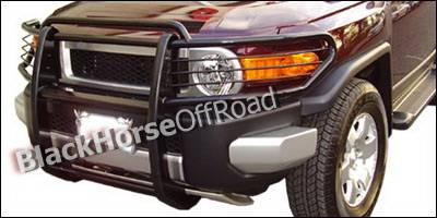 Grilles - Grille Guard - Black Horse - Toyota FJ Cruiser Black Horse Push Bar Guard