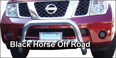 Grilles - Grille Guard - Black Horse - Nissan Frontier Black Horse Bull Bar Guard