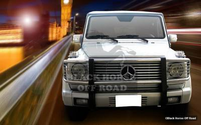 Grilles - Grille Guard - Black Horse - Mercedes-Benz G Class Black Horse Modular Push Bar Guard